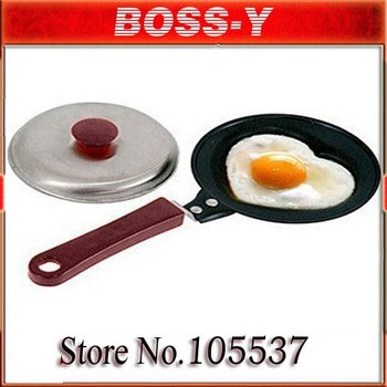 free shipping hot sell Heart-shaped eggs pan ,fry pan,Handy Frying Pan,MOQ 1pcs