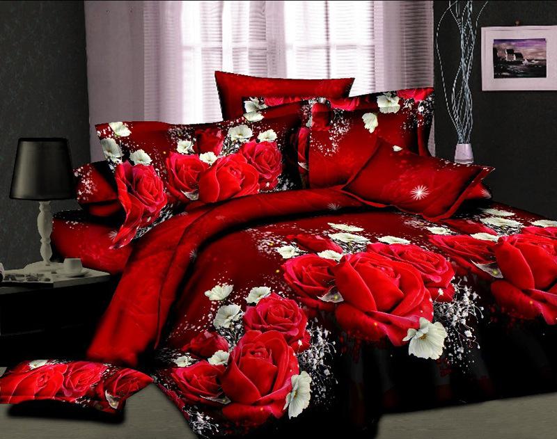 bedding set 3d bed set Eiffel Tower rose Butterfly sunflower panda bedclothes duvet cover sheet queen king size bed linen(China (Mainland))