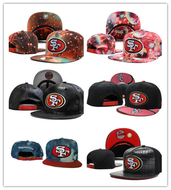 Free fast shipping Best Quality nfl cap all team SAN FRANCISCO 49ERS cap Snapbacks 20 colors HATS(China (Mainland))