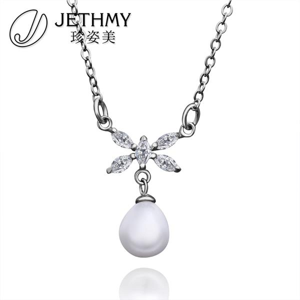 N001 Wholesale Wedding Accessories Women Necklace 18K Gold Austrian Crystal Necklace Pearl Jewlery Vintage Statement collar