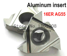 Buy 16ER AG55 Aluminum Carbide Threading Inserts 55 degree External Threading Insert Indexable Lathe Inserts Lathe Holder for $20.13 in AliExpress store