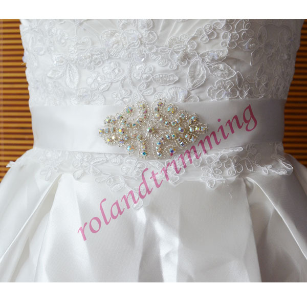 Free shipping 2015 new rhinestone jewel belts pageant sashes for dresses RA316AB(China (Mainland))