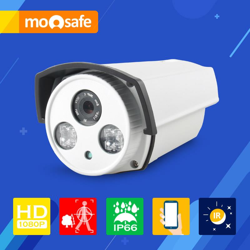 Mosafe 2.0MP IP Camera 2 pcs Array Leds IR night vision Onvif motion detection recording remoter control Surveillance Cameras(China (Mainland))
