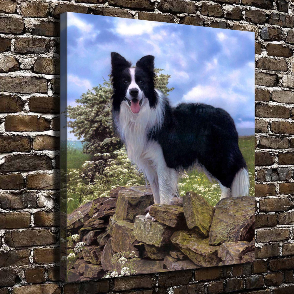 A0455 Natural Scenery Jungle Animals Dog. HD Canvas Print Home decoration Living Room bedroom Wall pictures Art painting(China (Mainland))