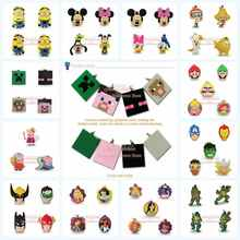 1000pcs Princess Ninja Turtles The Avengers PVC Figures Bag Parts Accessories Pendants Necklace For Luggage Charms Kids Gifts(China (Mainland))
