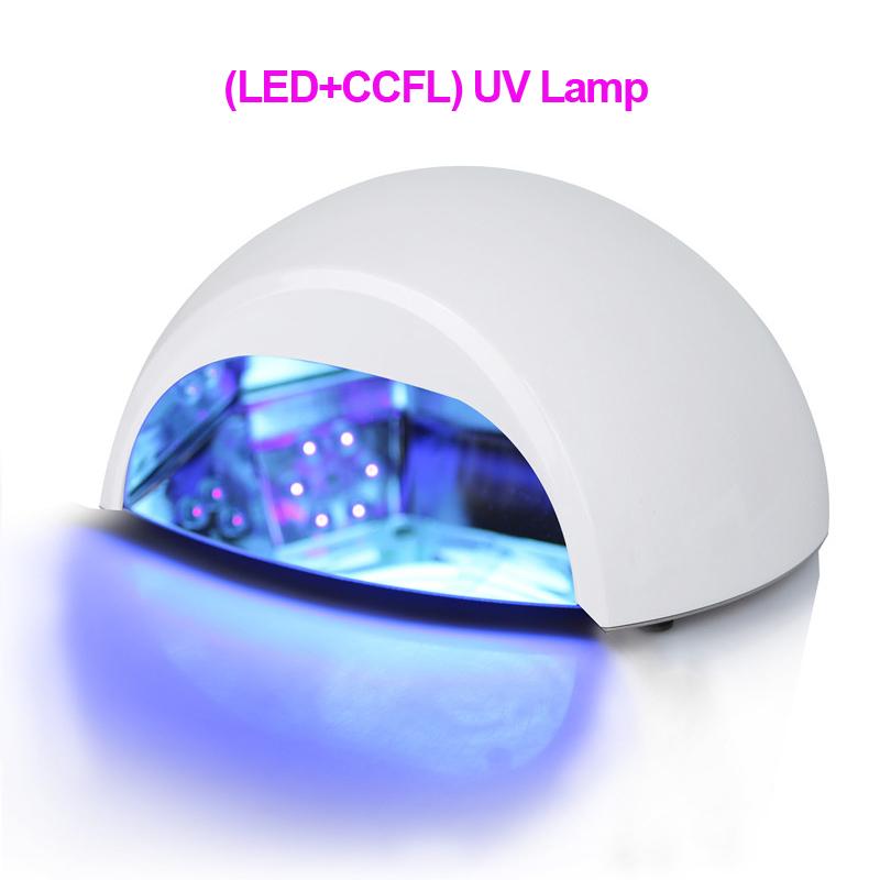 Professional 100-240V (LED+ CCFL ) Nail UV Lamp Polish Nail Dryer Very Fast Curing Nail Tools(China (Mainland))