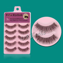 5 Pairs Handmade Popular Messy Natural Fake False Eyelashes Paragraph Fase Eye Lashes Makeup Beauty Tools(China (Mainland))