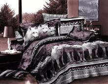 3D Red Rose Black Skin Floral Print Bedding Set Queen Size 3d Bedding Sets(Comforter Not Included)(China)