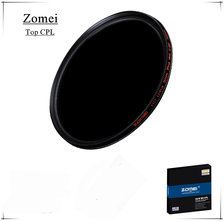 Top Quality UHD Zomei 77mm CPL Filter Germany Glass Polarizer Filtro 18 Layer Coating Water Oil Soil for Canon Sony Camera Lens(China (Mainland))