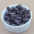 1000 pcs   silicone lined Micro rings  beads links microringe For Feather loop  Human Hair Extension tool  plier 11# light brown