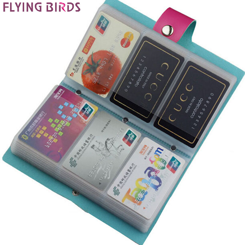 FLYING BIRDS!double Hasp women&men card bags name ID Business Card Holder High Quality Leather 96 Bank credit Card Case LS4061fb(China (Mainland))
