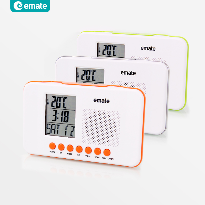 2014 new Fashion radio clock lounged small light clock calendar Alarm Digital Clock with LED Flashing Calendar and FM Radio(China (Mainland))