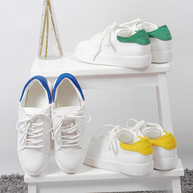 Высокое качество обувь 2016 весна лето марка женщины белый кружева-up спортивная обувь женщины туфли на платформе