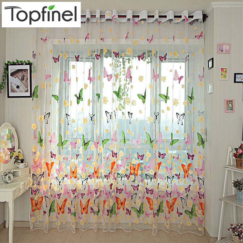 Aliexpresscom  Buy Top Finel 2016 Finished Butterfly Tulle for Window Curta