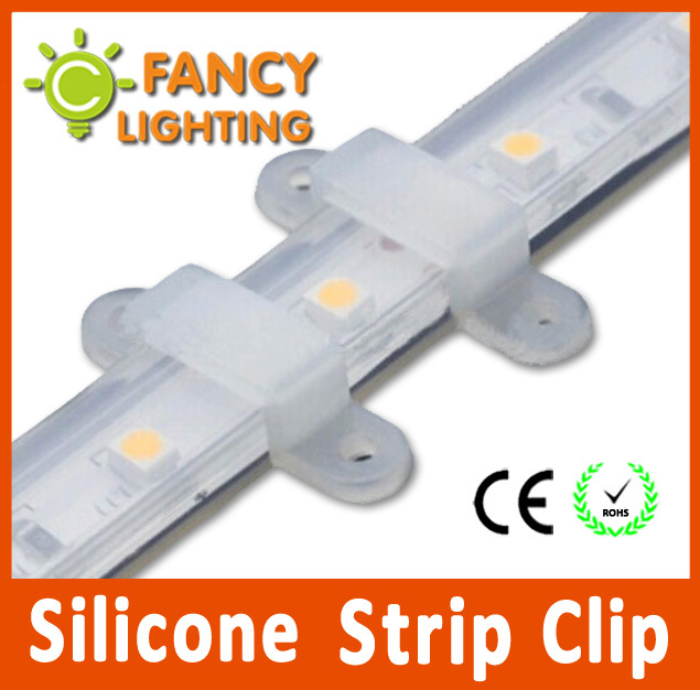 Гаджет  100pcs/lot 12mm LED Strip Fixed Holder Silicone clip for SMD5050/2835/5014/5730 for Strip /string light Connector free shipping None Свет и освещение