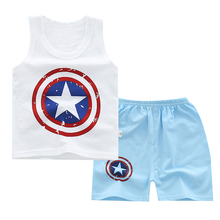 Buy Cartoon Boys Clothes Sets Girls Clothes Summer Kids Clothes Sleeveless Vest T Shirt Shorts Pants Vest Children Clothing Suit for $2.99 in AliExpress store