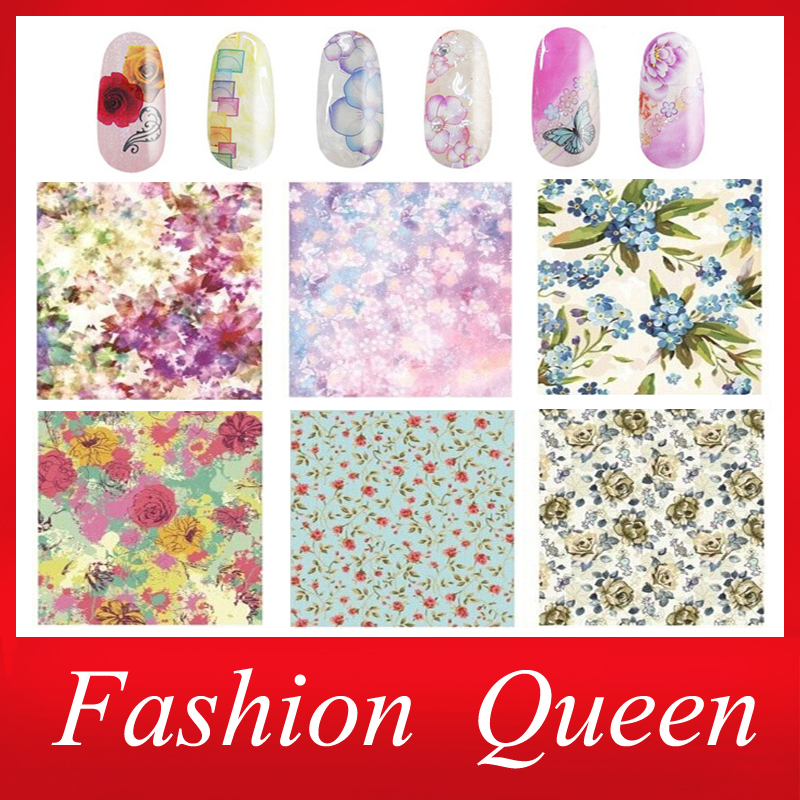 New Water Nail Art Stickers Decals,10sheets/lot Stylish Flowers Lips Nail Transfer Foil Wrap,Nail Tips Accessory Decoration Tool(China (Mainland))