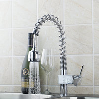 Pull Out Kitchen Faucets Modern Single Hole/Handle Chrome Brass 8544/3 Chrome Brass Basin Sink Faucets,Mixers & Taps