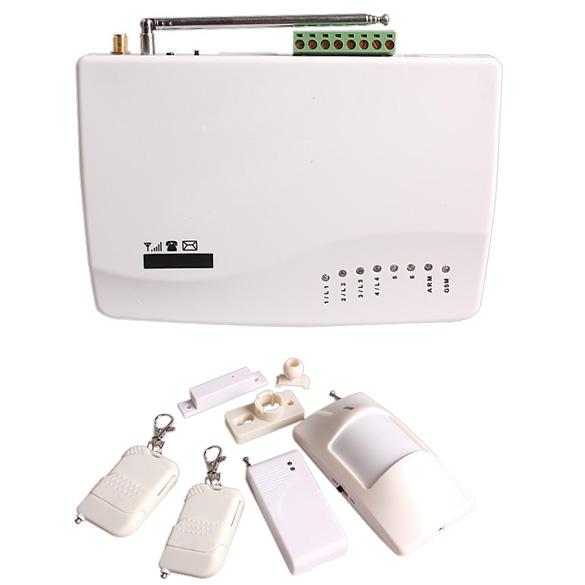 1 Set LED Security Wireless GSM Auto Dial Home Office Burglar Intruder Fire Alarm LCC77(China (Mainland))