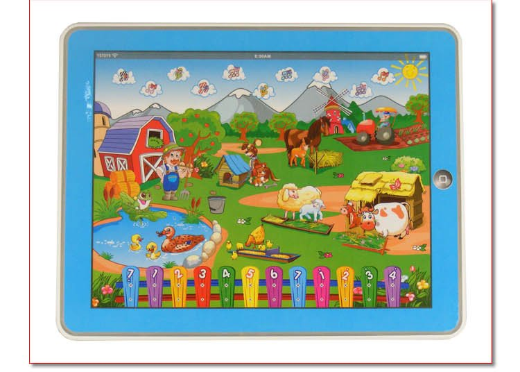 hot sales Farm-in-a-Tablet Toy Y-pad Table computer handle farm kid learning marchine educational toys Free Shipping