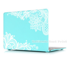 Batianda(TM) Floral Lace Air 11 12 13 Pro 13 15 Rubberized Frosted Matte Hard Case Cover for MacBook Pro 13.3 15.4'' with Retina(China (Mainland))