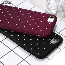 Buy Fashion Cute Dots Phone Case iPhone 7 6 6s Plus 5 5s SE Wine Red Ultrathin Hard Plastic Back Cover Cases iPhone7 Plus for $1.50 in AliExpress store