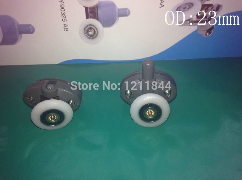 OD:25MM Shower pulley accessories old roller door crane wheel Double holes pulley(China (Mainland))