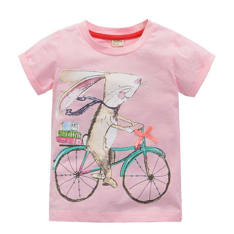 OneToo Girl t shirt big Girls tees shirts children blouse big sale super quality kids summer