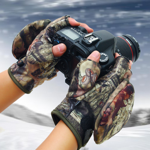 The new line of outdoor camouflage mountain fingerless gloves male half refers to autumn and winter wind riding skid flip fishin(China (Mainland))