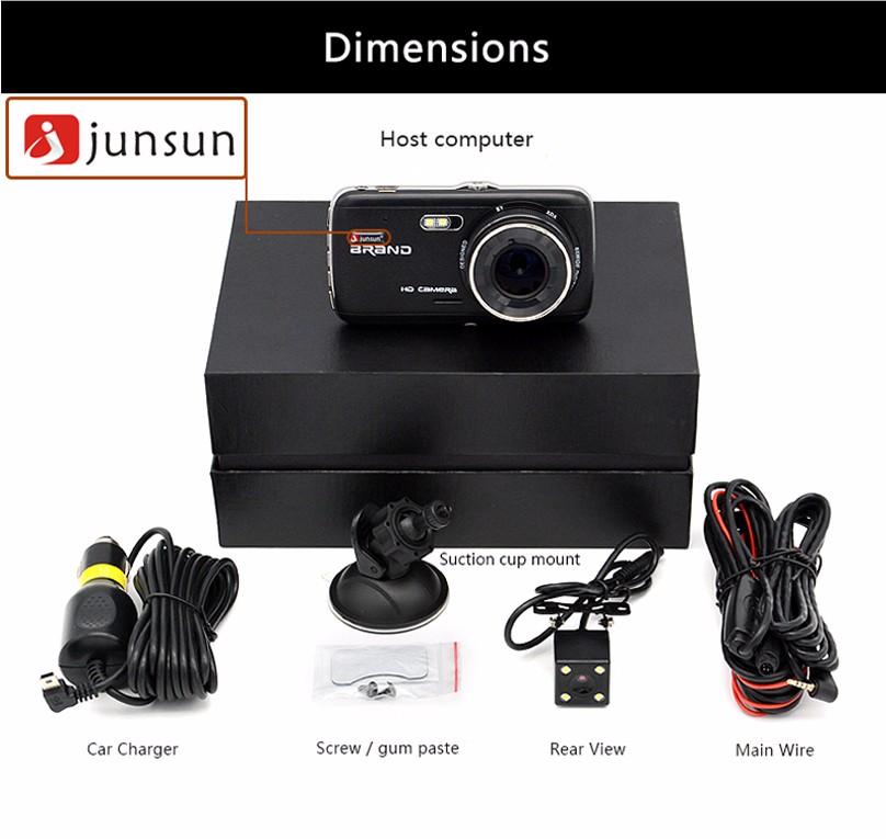 Junsun H6 1080P Full HD dashcam 4,0 inch met WDR en ADAS