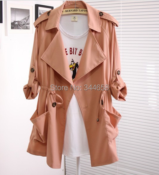 2014 new desigual coat fashion/Casual women's Trench Coat long Outerwear loose clothes lady good quality - The only design studio store