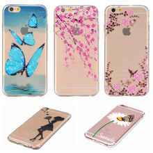 Luxury TPU Soft Case For iPhone 6 6s Plus Back Cover Skin Cartoon Girl Cute Macarons Daisy Flower Feather Patterns for iPhone6s