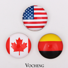Vocheng Snap Interchangeable Snap Buttons Jewelry Accessory National Flag Style Ginger Snap Jewelry (Vn-415) Free Shipping(China (Mainland))