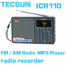 Free shippingTECSUN ICR-110 FM Stereo/ AM DSP ATS REC MP3/WMA/WAV Radio Receiver(China (Mainland))