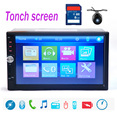 10 languages 7018B 2 DIN 7 inch Car Stereo MP5 Radio Player steering wheel control Touch