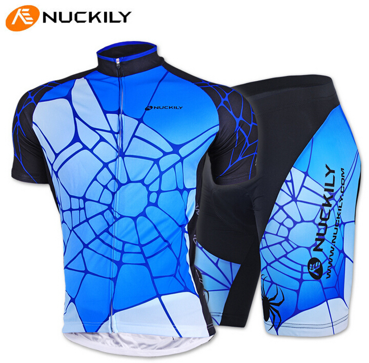 NUCKILY Spider Men Cycling Jersey Short Sleeve Spider Bike Clothing Bicycle Shorts Summer Style Ciclismo(China (Mainland))