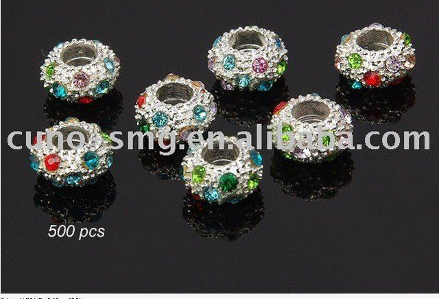 New Crystal Glass alloy enamel ceramic Beads and accessorries For DIY Charming Jewelry