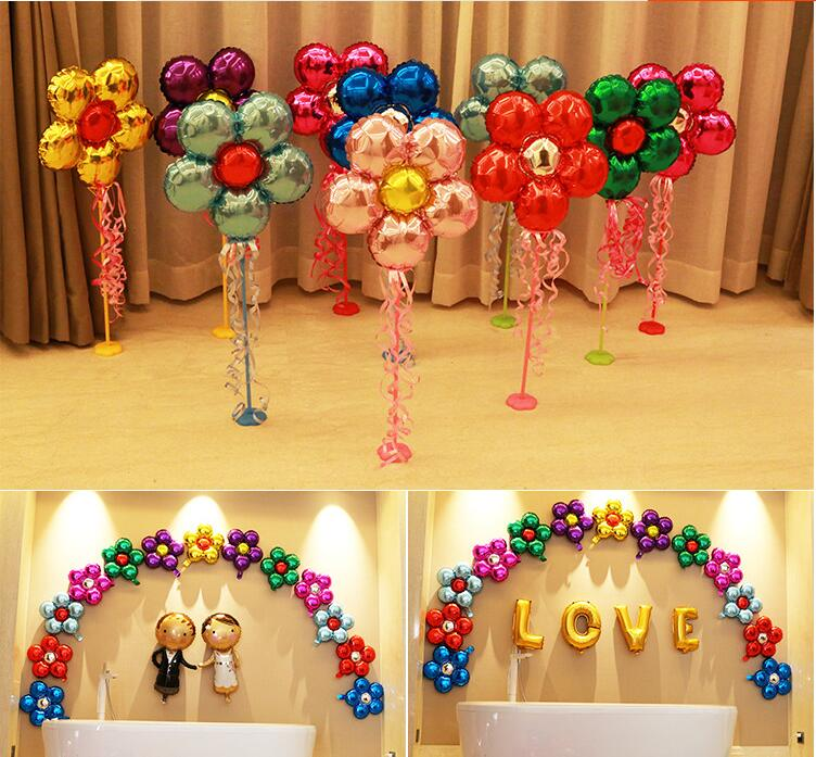 20pcs/lot flower Foil balloons wedding party balloon inflatable air balloon marriage room party decoration balao children toys(China (Mainland))