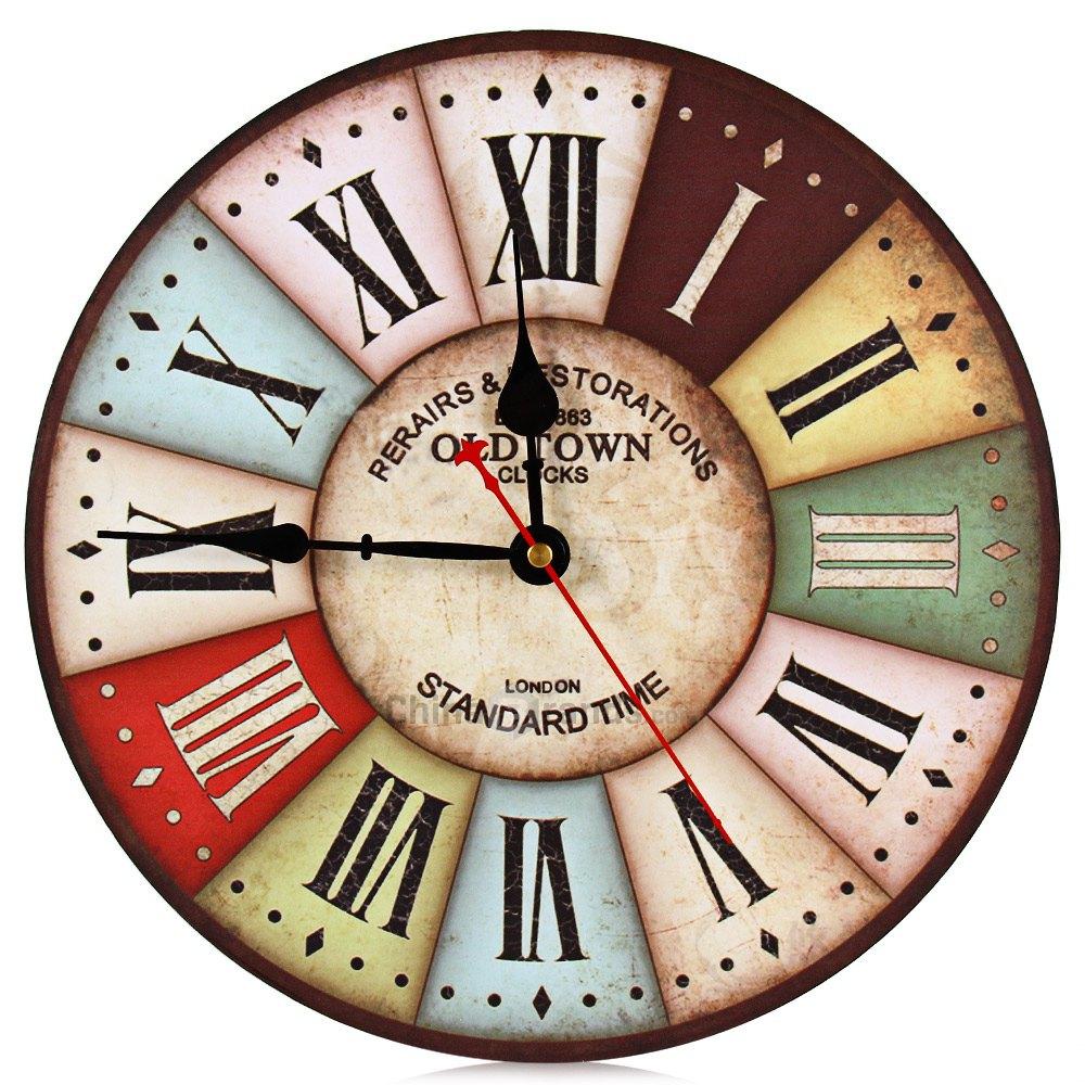 2016 On Sale Best Wood Wall Clock Vintage Quartz Large