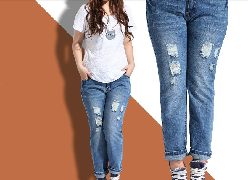 Plus Size Ripped Jeans Cheap Ye Jean