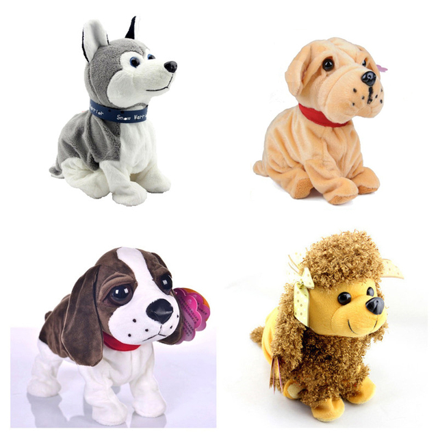 2016 New Electronic Pet Toys Sounds Control Moive Electronic Toys Dog Plush Dog Interactive Toys Children Toys Brithday Gifts