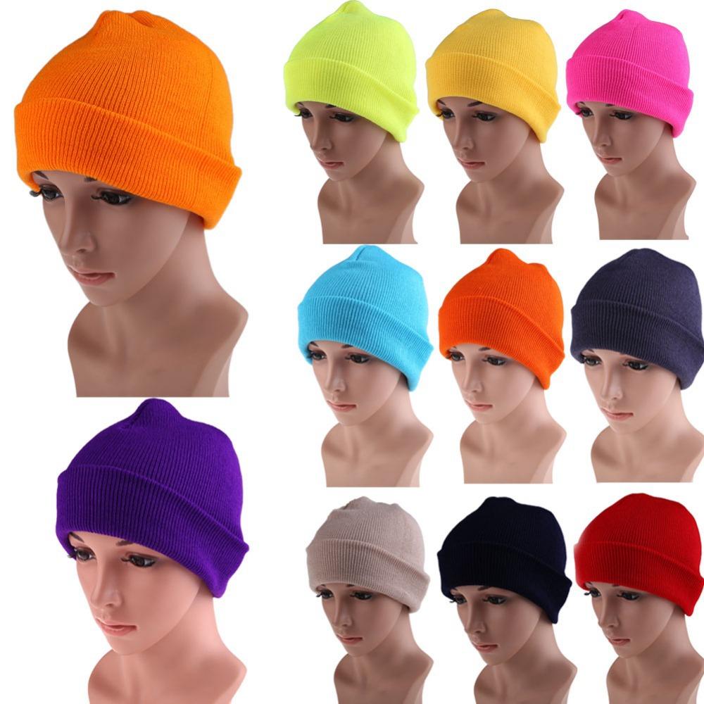 Free Shipping Men's Women Beanie Knit Ski Cap Hip-Hop Color Winter Warm Unisex Wool Hat K5BO(China (Mainland))