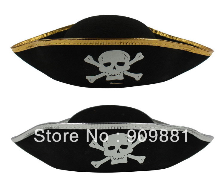 Free Shipping 10pcs/lot party supplies Halloween props Bandanna Cap /pirate hat Pirates of the Caribbean Captain hat(China (Mainland))