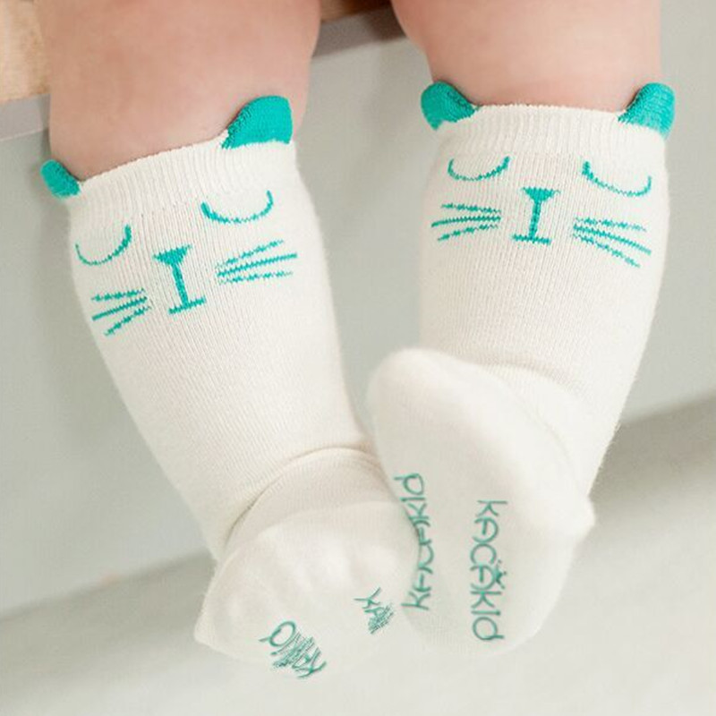 Wram Toddler Girl Knee High Sock Boy Socks Anti Slip Cute