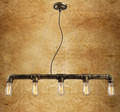 3 Heads 5 Heads Loft Industry Retro Water Pipe Chandelier Cafe Bar Creative Personality Water Pipe