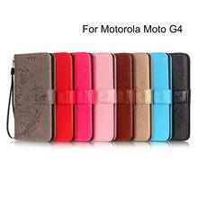 Stand Phone Leather Case Motorola Moto G4 Plus Embossing Pattern Wallet Flip Cover - CaseKURWIC Store1 store