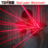 Free shipping Red Laser Suit, LED Vest, Luminous Waistcoat Laser Gloves Glasses For Laser Show