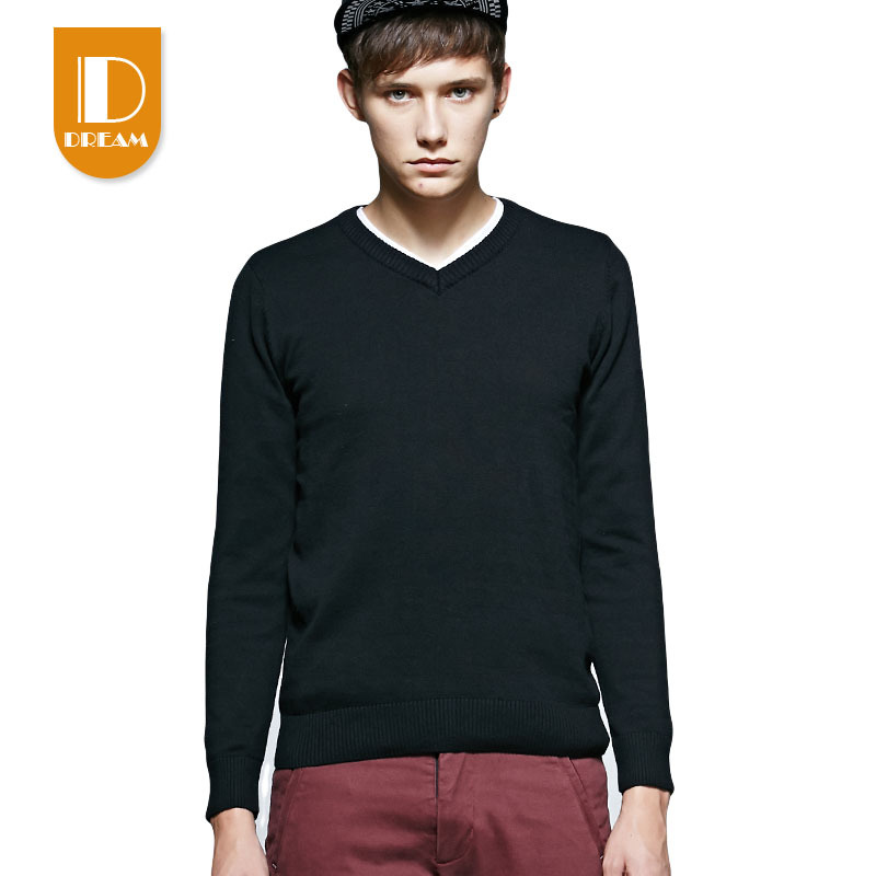 2015 New Autumn Long Pullover Mens Luxury Sweaters Tops Long Sleeve Sweaters Fashion Sweater Men Perfect Designer Black 6688(China (Mainland))