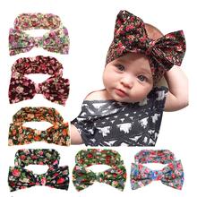 Buy Kids Flower Headband Floral Hairband Turban Knot Rabbit Bowknot Headwear Newborn Hair Accessories KT038 for $1.04 in AliExpress store