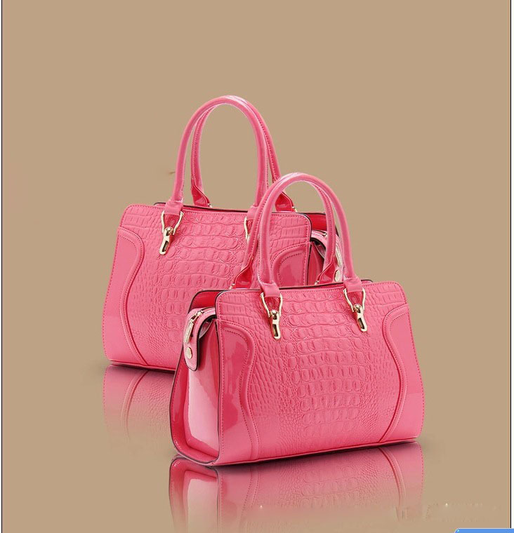 Women Crocodie Line PU Leather Messager Bags Elegant Women Bolsos De Lujo Shoulder Bag Solid Large Capacity Shell Handbags(China (Mainland))
